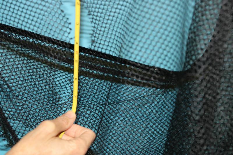 Measured hole in Tomahawk net